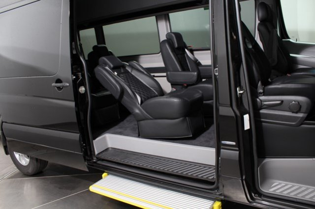 Mercedes sprinter party bus rental in los angeles for Mercedes benz service los angeles